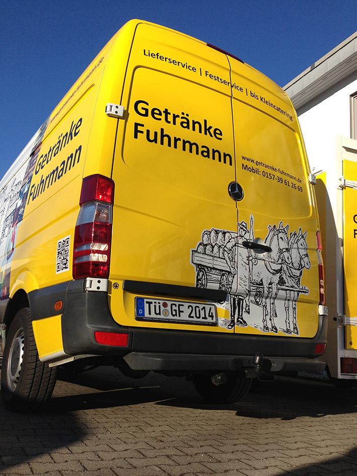 Lieferwagen Getränke Fuhrmann